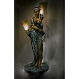 Старинная бронза Антикварный светильник по модели Клер Колине