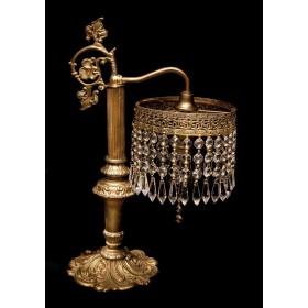 Продается старинная будуарная хрустальная лампа Колонна