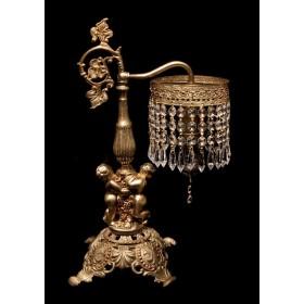 Продается старинная будуарная хрустальная лампа Купидоны