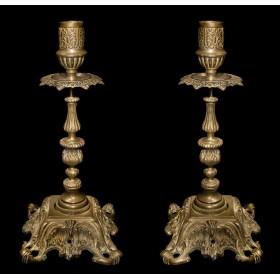 Пара старинных подсвечников из бронзы в Москве стиль Наполеон III