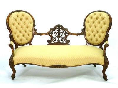 Старинная английская мебель, викторианская софа