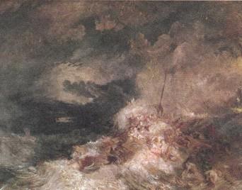 Уильям Тёрнер. Пожар в море