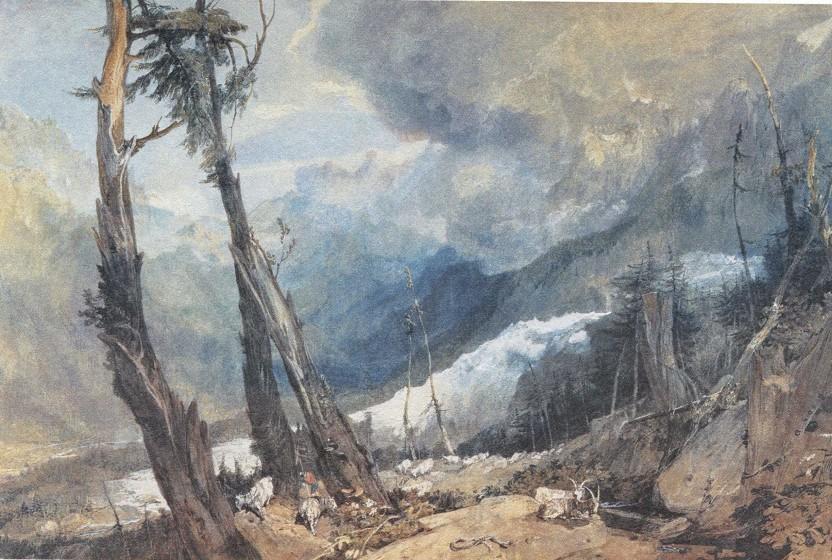 Английская живопись, картина Д.У.Тёрнер. Ледник.1803
