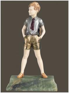 Кабинетная скульптура Арт-деко Прайсс Фердинанд. Сынок