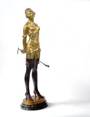 Кабинетная скульптура Арт-деко Зак Бруно (1891–1945). Девушка с хлыстом