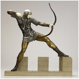 Кабинетная скульптура Арт-деко Пьер Ле Фагои. Лучник