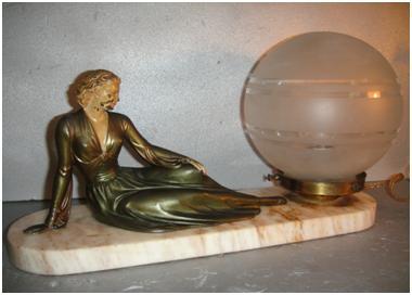 Кабинетная скульптура Арт-деко Энрике Молен-Балест. Красавица