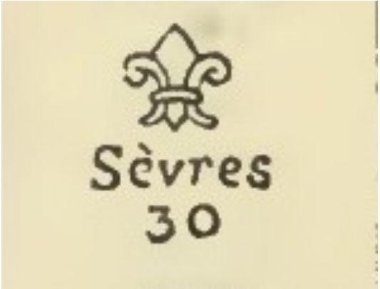 Клейма антикварного фарфора Севр