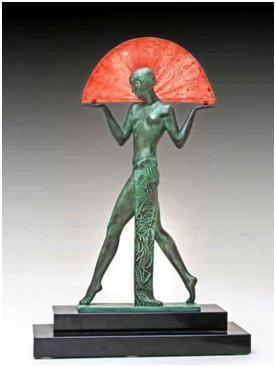 Кабинетная скульптура Арт-деко Пьер Ле Фагои Макс Ле Верье.  Испанка. Лапма.