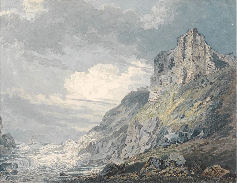 Английская живопись, картина Т.Гёртин. Замок Файндлейтер.1792