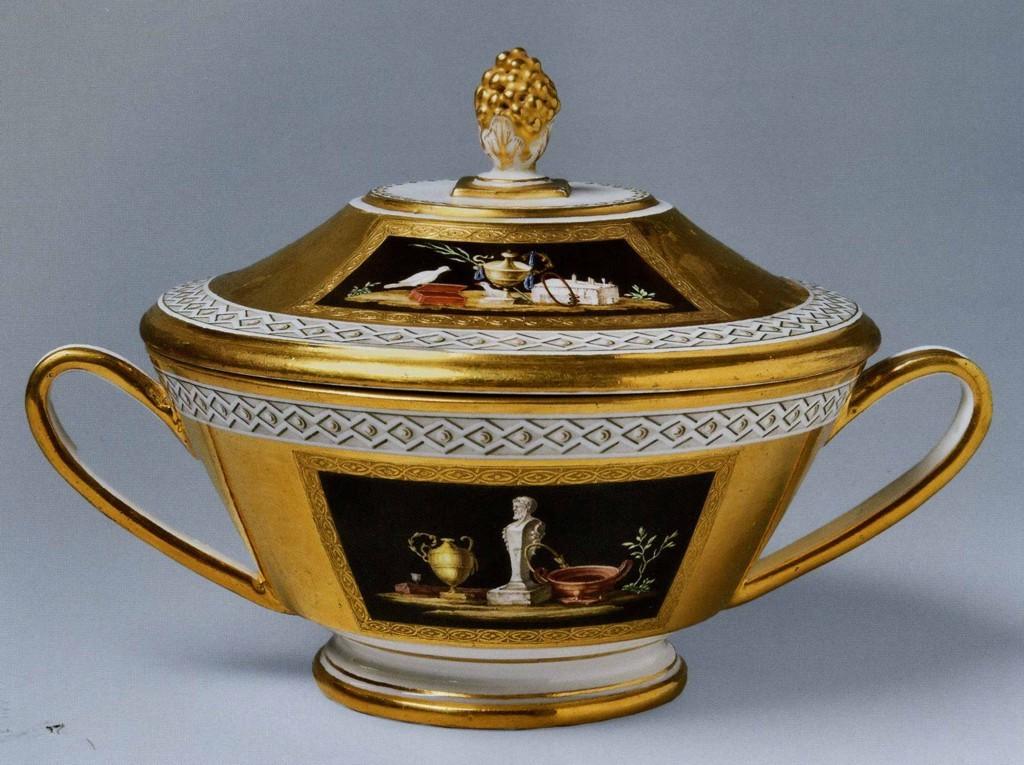 чашка с помпеянской росписью конец 1790-х Фарфор ИФЗ