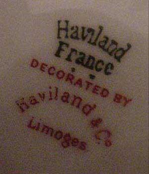 Клейма Haviland Limoges Лиможский фарфор