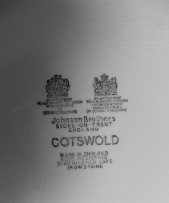 Клейма фарфоровой фабрики Johnson Brothers (Братья Джонсоны)