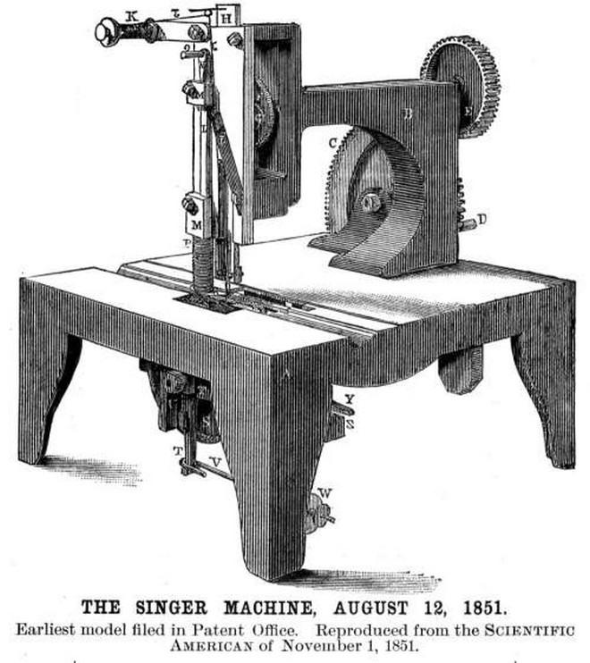 Первая швейная машинка Зингера