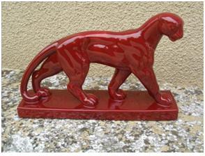 Кабинетная скульптура Арт-деко Сен - Клеман. Пантера