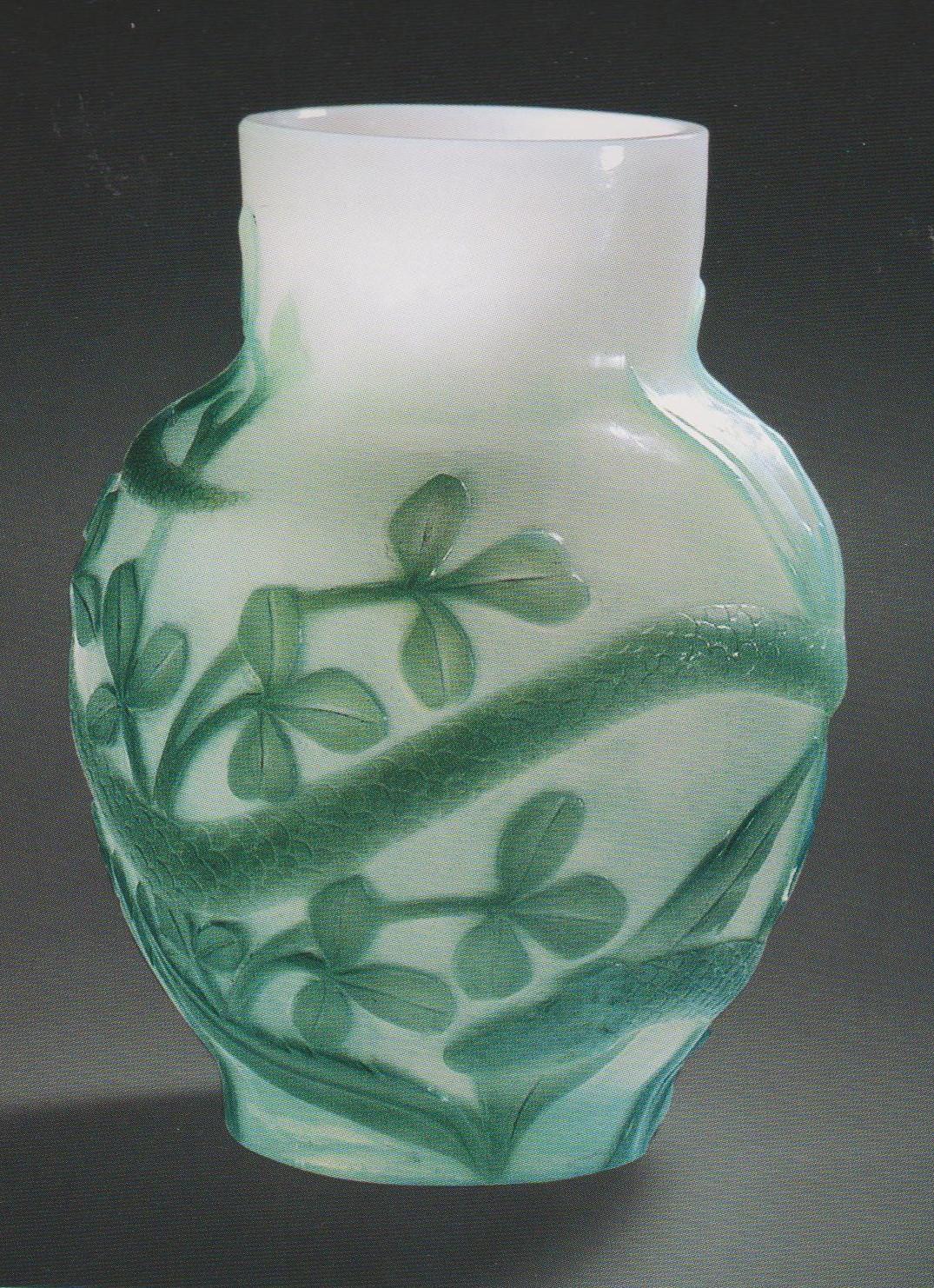 Старинное русское стекло Модерн, ИСЗ по рисунку К. Красовского ваза с иозбражением змеи 1898
