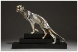 Кабинетная скульптура Арт-деко Георгий Лавров. Тигр  вышел  из джунглей