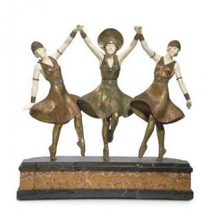 Кабинетная скульптура Арт-деко Чипарус Дмитрий. Русский балет